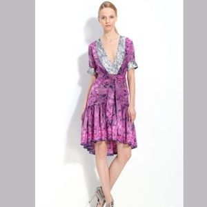 'Gypset Print' Dress with Sequin Trim Small